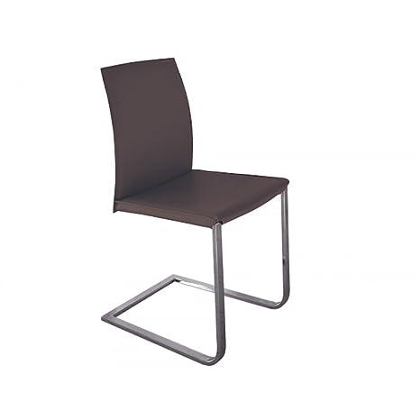 Design Twist Sedia Set di 2 Sedie, Metallo/Cuoio Rigenerato ...