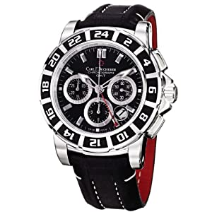 Carl F. Bucherer Men's 0010618133301 Patravi Black Chronograph Dial and Strap Watch