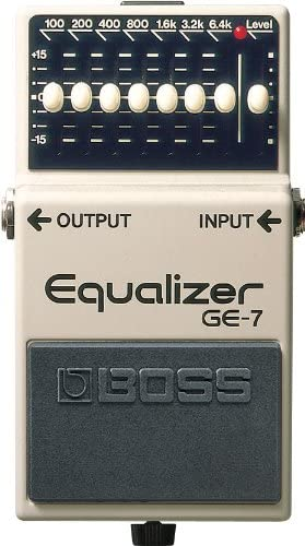 Amazon Com Boss Seven Band Graphic Equalizer Guitar Pedal Ge 7 Musical Instruments