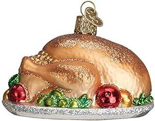Old World Christmas Turchia Piatto in Vetro soffiato Ornament by