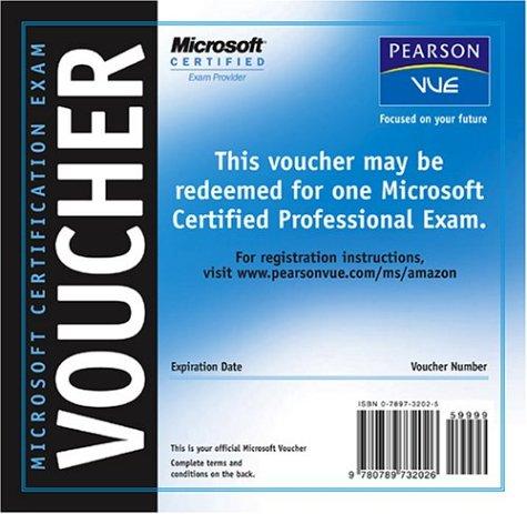 microsoft certification exam voucher microsoft 9780789732026