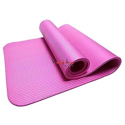 épais tapis d'exercice avec sangle de transport–Meilleur Confort sur les hanches, genoux, colonne vertébrale et les articulations, 180,3x 61cm Extra long Tapis de yoga pour P90