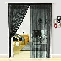 HSYLYM Dense Spaghetti Fringe String Door Curtains for Bedroom Room Divider Fly Screen for Living Room (100X200cm)