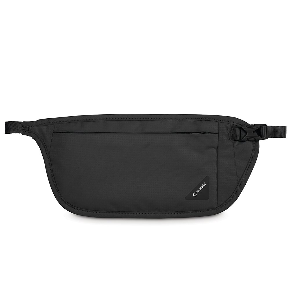 Pacsafe Coversafe V100 Anti-Theft RFID Blocking Waist Wallet, Black