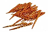 Club Pack of 36 Burnt Orange Shatterproof Icicle Christmas Ornaments 5""
