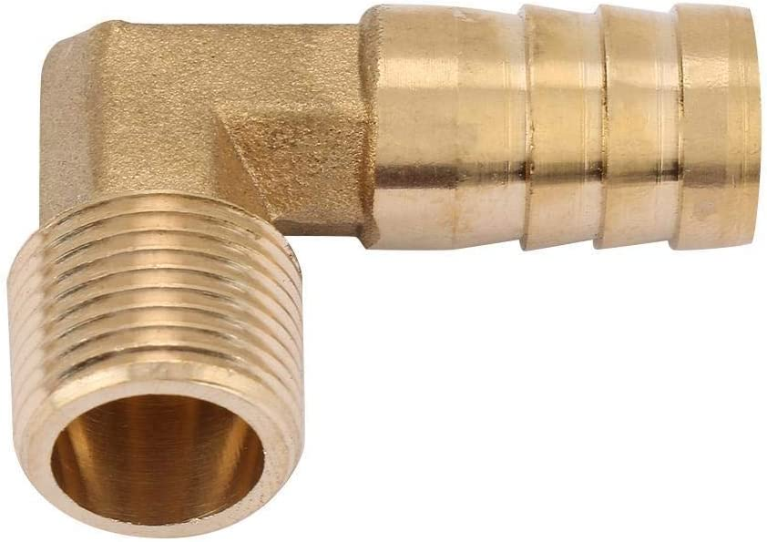 16mm Beennex 2pc//Set G3//8 Male Thread Brass Elbow Hose Barb Coupling Connector Joint Adapter Fitting