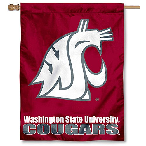 College Flags and Banners Co. Washington State University Cougars House Flag - Banner House Flag University