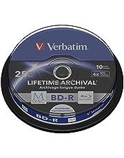 Verbatim MDISC BD-R - Blu-Ray-schijf 25 GB, 4x brandsnelheid, duurzame Blu-Ray-schijf, 10 Pack Spindle