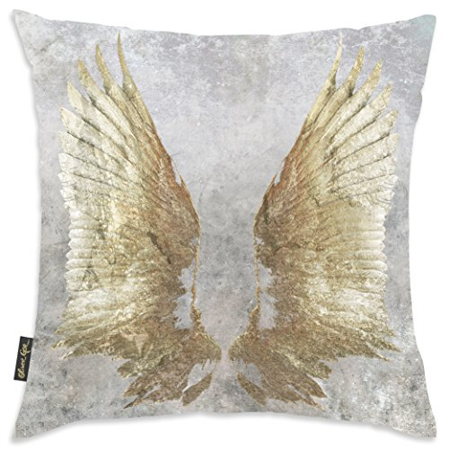 The Oliver Gal Artist Co. 'My Wings Chie' Home Fashion Decorative Throw Bed and Sofa Décor. Modern Accent Pillow with Insert Included, 18