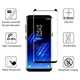Galaxy S8 Plus Screen Protector,AceTend [Case Friendly] Fix Frame,Full Coverage,HD Clear,Anti-Bubble,Anti-Scratch,Easy Installation-3D Curved Tempered Glass Screen Protector for Samsung Galaxy S8 Plus