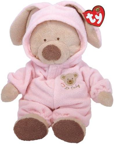 Ty Pluffies Washable Pajama Bear Soft Pink or Blue Plush Animal Baby Boy Girl