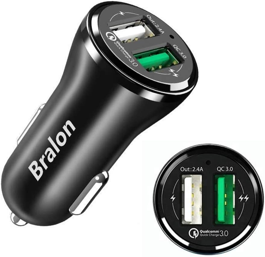 USB C Car Charger,Bralon 20W PD 3.0 & 18W QC 3.0 Fast Car Charger Compatible with iPhone 11/Pro/Max/XS/X/8 S Plus,Galaxy Note S10 S9 S8 S7,iPad & More