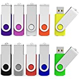 Aiibe 8GB USB Flash Drive Colorful 8G Memory Stick Thumbdrives (Mix Colors : Black Blue Red Green Orange White Yellow Pink Purple Silver)
