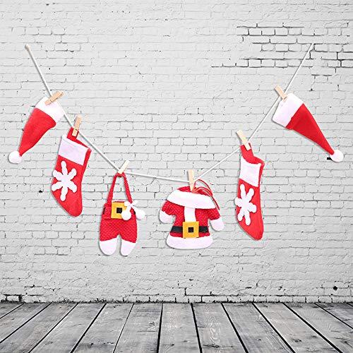 Christmas DIY Flag Christmas Pull flag Christmas Fireplace Decoration, Christmas Tree Decoration, 6Pcs/Set by TLT Retail (Image #3)