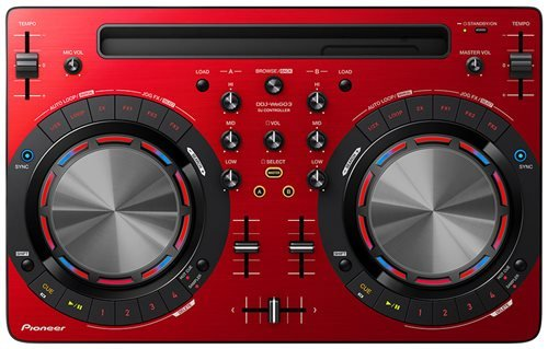 Pioneer DDJ-WeGO3 Compact 2 Deck DJ Controller - Limited Edition Red