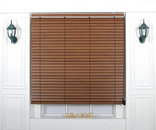Foiresoft Custom Cut to Size, [Winsharp Wood Paulownia, Paulownia_04, W 89 x H 82 (Inch)] Horizontal Window Real Wood(Paulownia) Blinds & Treatments, Maximum 95 Inch Wide 103 Inch Long ()