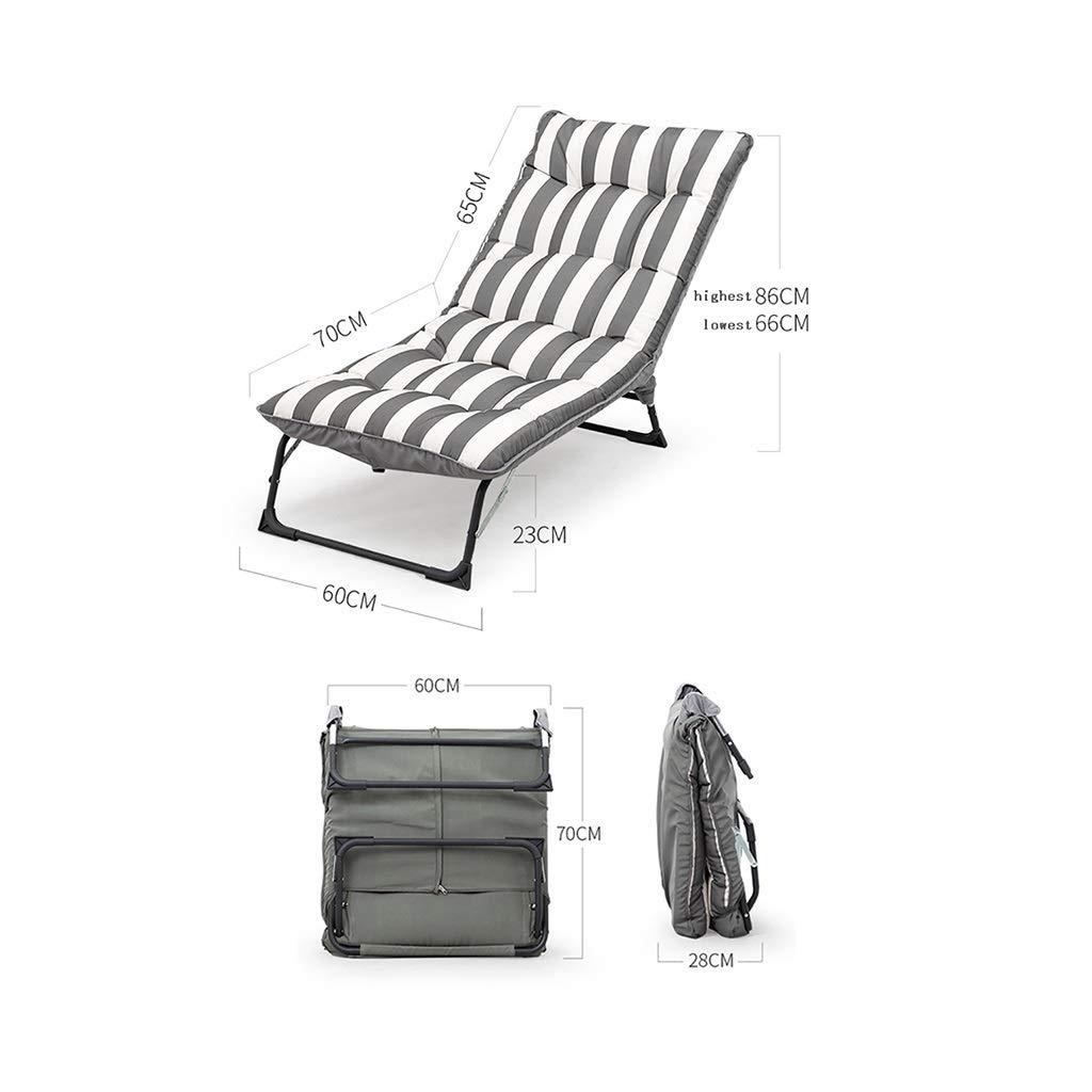 Campingstol utomhus golvstol, trädgårdslokal, strandstol, utomhus fällstol, 8 cm tjock svamp kudde, förstärkt stålrör, bärning 160 kg (färg: B) b