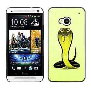 TopCaseStore / la caja del caucho duro de la cubierta de protección de la piel - Friendly Cobra Snake - HTC One M7
