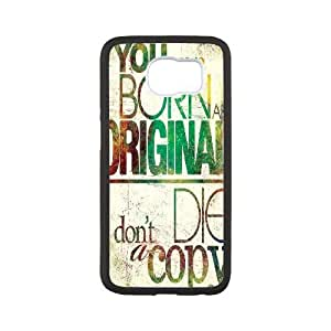 Samsung Galaxy S6 Case Stay Strong Quotes You Were Born and Original, [White]