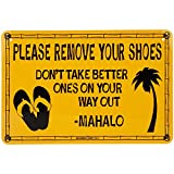Please Remove Your Shoes Tin Sign 18 x 12in