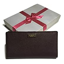 Kate Spade Newbury Lane Stacy Clutch Wallet Saffiano WLRU1601 (Mulled Wine)