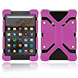 FINDING CASE for Amazon Kindle Fire 7 Alexa,(7' Tablet, 5th Gen 2015 and 7th Gen 2017 Release),Slim Soft Silicone Shockproof Cover Case Also Suitable for other 7' AMAZON kindle Fire versions (purple)