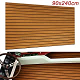 UCSLIFE EVA Foam Marine Boat Flooring Teak Decking Yacht Car Sheet Carpet Floor Pad Boat Decking Sheet 6MM 94.5'' X 35.4'' Flooring Sheet