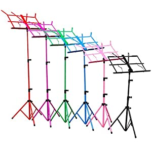 New Jersey Sound NJS080 Sheet Music Stand with Height and Angle Adjustment