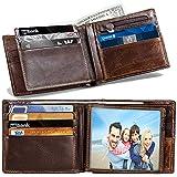 Men's Wallet RFID Bifold Wallet for Men...