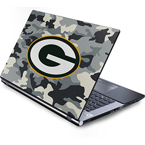 Skinit NFL Green Bay Packers Generic 13in (12.803in w X 8.996in h) Laptop Skin - Green Bay Packers Camo Design - Ultra Thin, Lightweight Vinyl Decal Protection (Green Packers Generic Bay Laptop)