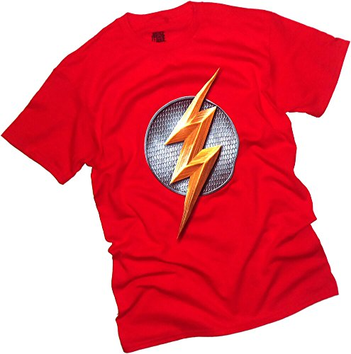 justice+league Products : The Flash Logo -- Justice League Movie Adult T-Shirt