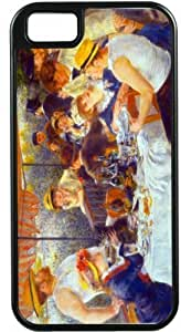 Nice Pierre-August Renoir Art The Luncheon Black Tough-It Case Cover for iPhone 4 & 4s (Double Layer case with Silicone Protection) by ruishername