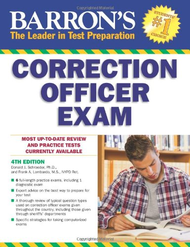 Barron's Correction Officer Exam, 4th Edition (Book Of Civil Service Study Guide compare prices)