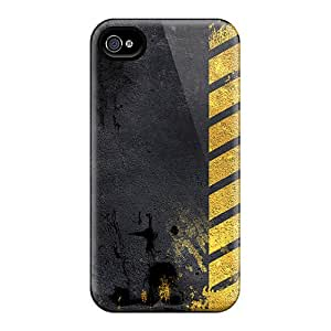 Scratch Protection Hard Cell-phone Cases For Iphone 4/4s (iTp15752BMuI) Allow Personal Design Lifelike Iphone Wallpaper Pattern
