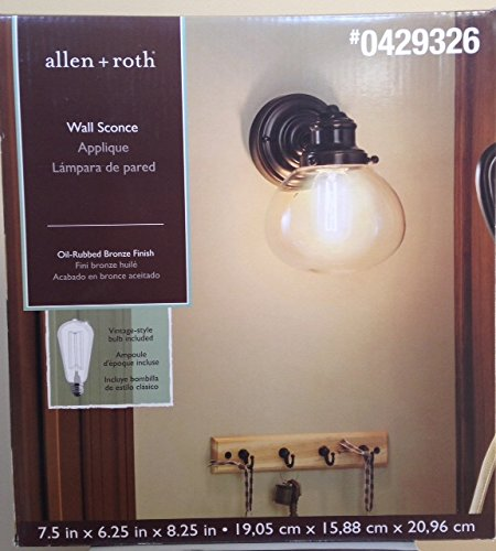 Allen and Roth Wall Sconce Oil Rubbed Bronze 40w Vintage-style - And Bristow Allen Roth