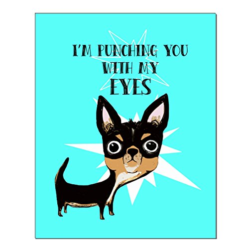 Eye Punch Chihuahua 8x10 Art Print by Pithitude