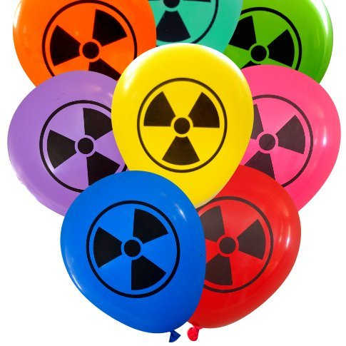 Radioactive Symbol Balloons (16 pcs) by Nerdy Words (Assorted)