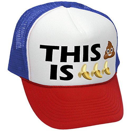(This Shit is Bananas - Funny Parody Joke - Adult Trucker Cap Hat,)