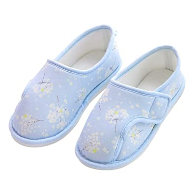 d11d4c925ad Mwfus Extra Wide Width House Slippers Non-Skid Indoor Outdoor Shoes Diabetic  Arthritis Edema Slippers