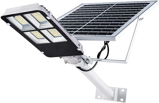 Farola Solar de 300 vatios: luz Exterior 360 LED, luz de Pared, iluminación sostenible Durante 15 Horas, para Patios, Jardines, Calles, canchas de Baloncesto: Amazon.es: Hogar
