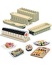Sushi Making Kit Upgraded Version, 11 Creative Sushi Shapes DIY Sushi Maker for Beginners Home Sushi Kit with 8 Sushi Rice Roller Molds and1 Sushi Knife, Prefect Home Sushi Tool