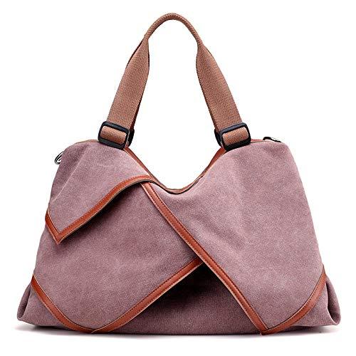 la Púrpura de se Blushing GMYAN Bolsos ruboriza Rosa Ocasional Que Brown para Mujeres de café Lona Bolso los Las Pink de vnqvf4wHP