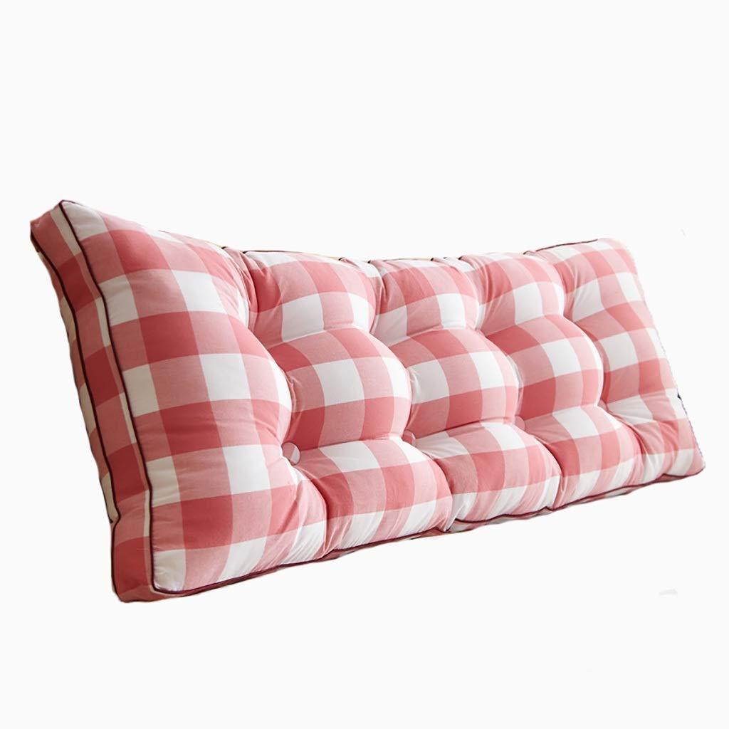 ベッド枕 洗ったコットンベッドソフトパッククッション大背もたれ取り外し可能ベッドロング枕畳ベルト背もたれ枕[ライブボタンデザイン] [取り外しやすく洗いやすい]サイズ90cm-200cmオプション 写真ベッド枕首まくら (色 : W, サイズ さいず : 180cm) B07RW9R753