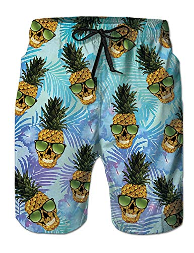 (Idgreatim Mens Swim Trunks 3D Graphic Swimsuit Beach Pants Bathing Suits for Vacation with Lining XXL)