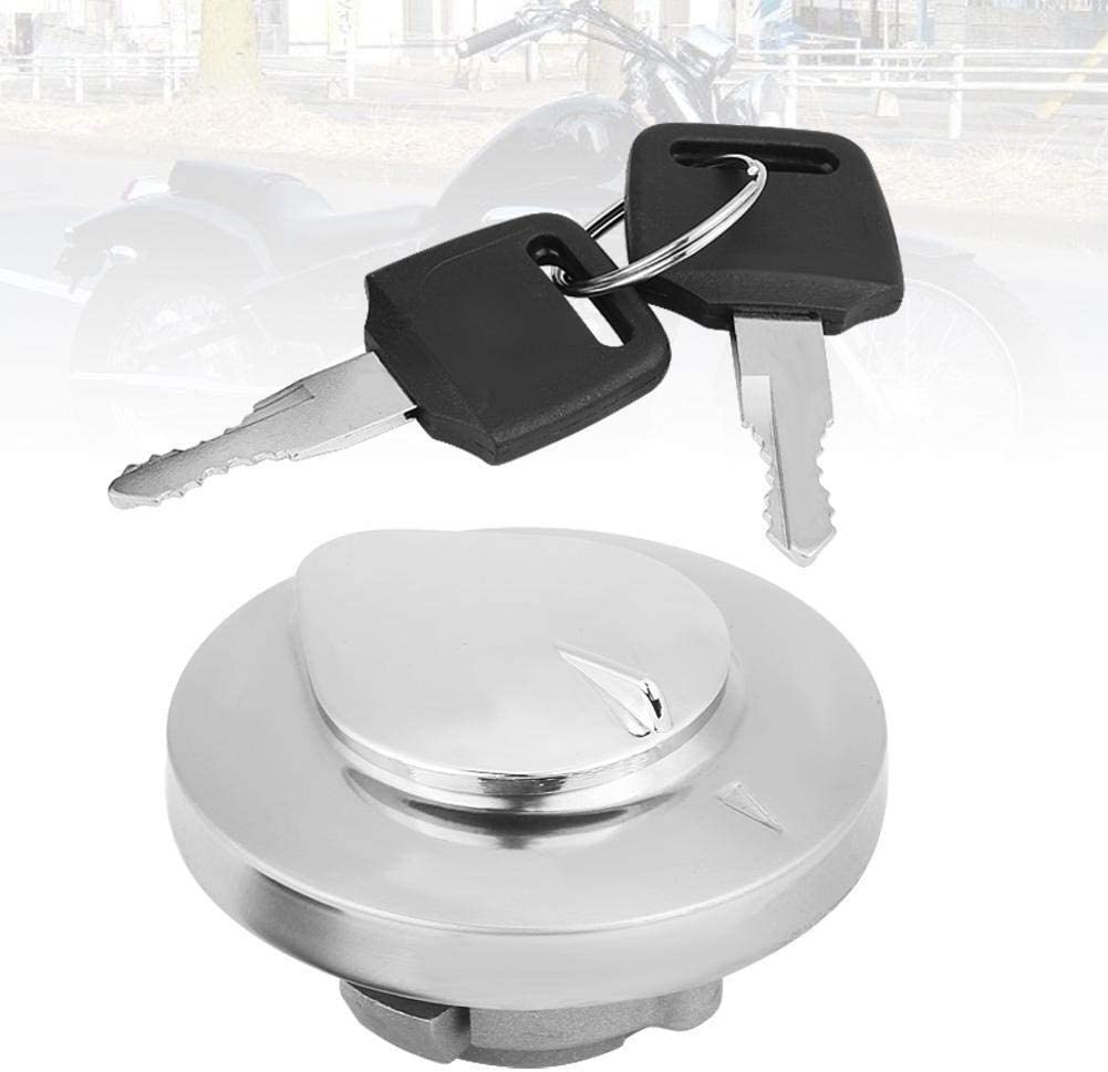 Fuel Tank Cap-Motorcycle Fuel Gas Cap Tank Cover with 2 Keys for Honda Shadow Spirit VT750 DC C2 VLX VT600