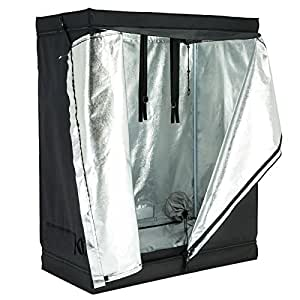 Tent room reflective 600d mylar hydroponic 48 inch x24 inch x60 inch non toxic hut indoor grow