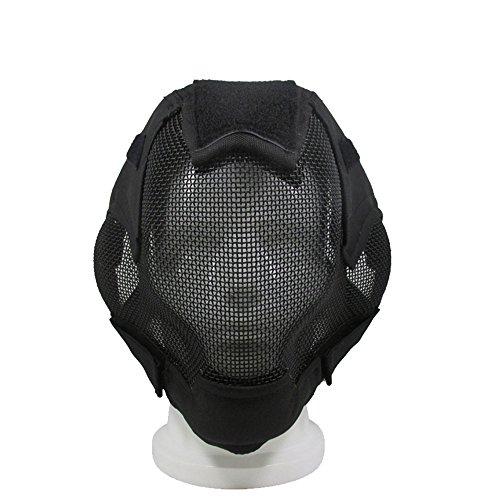 Airsoft Steel Mesh Mask, Full Face Protective Mask for Tactical Game /Military Paintball Game/Cosplay/Fencing by - Guards Steel Face