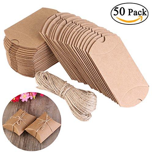 Nuolux Pillow Box Kraft Boxes Kraft Paper Gift Box Candy