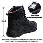 FREE SOLDIER pour Homme Mid Haute durabilité Lacets Bottes Durable Imperméable Armée Combat Chaussures Respirant… 11