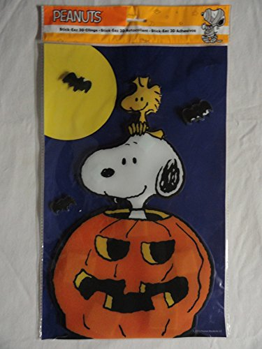 Snoopy and Woodstock Halloween 3d Window Clings]()